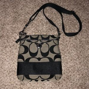Authentic Canvas Coach Crossbody
